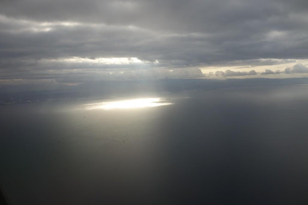 関西国際空港の上空