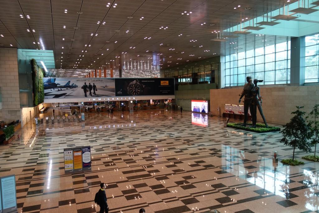 入国検査 チャンギ空港