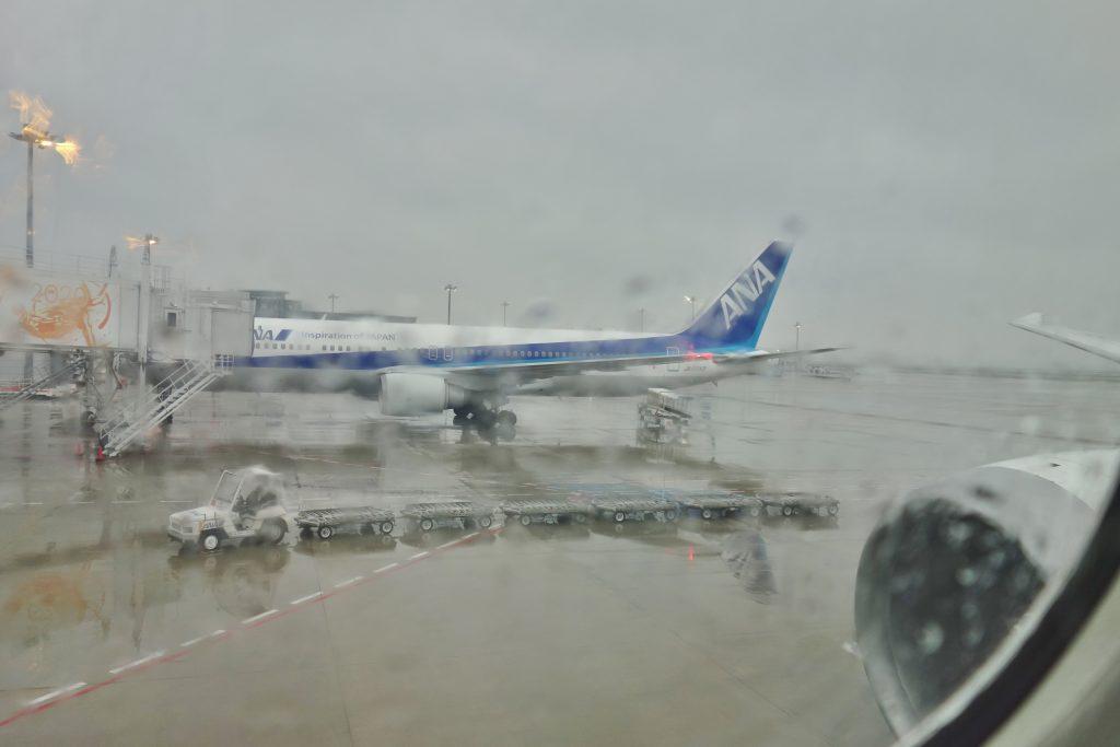 羽田空港 雨天