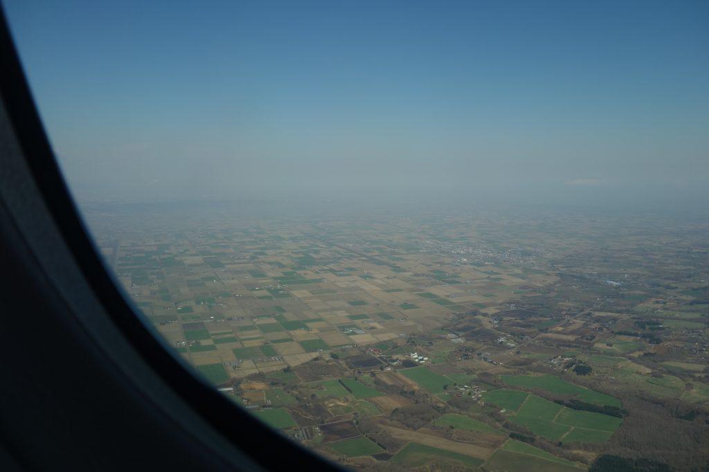 新千歳空港上空