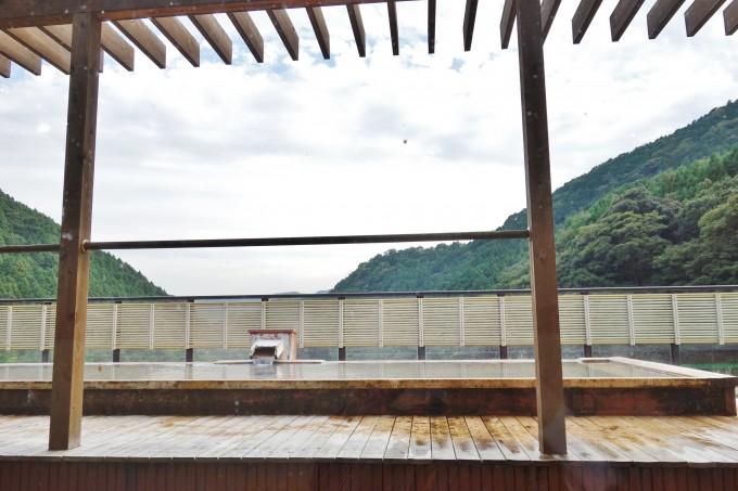 山翠楼の展望露天風呂