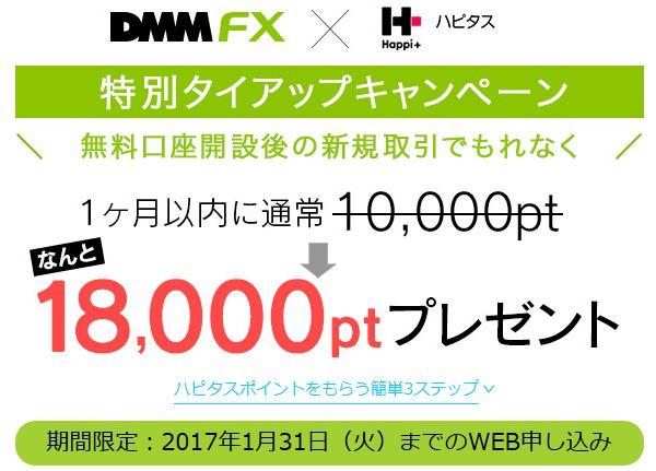 ハピタスとDMMのタイアップキャンペーン