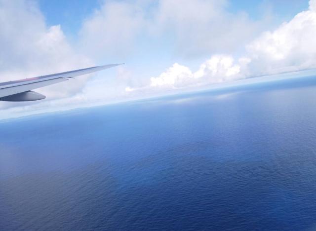 ANAの機内から見た海