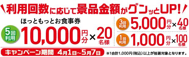 ネット注文で最大10,000円プレゼント