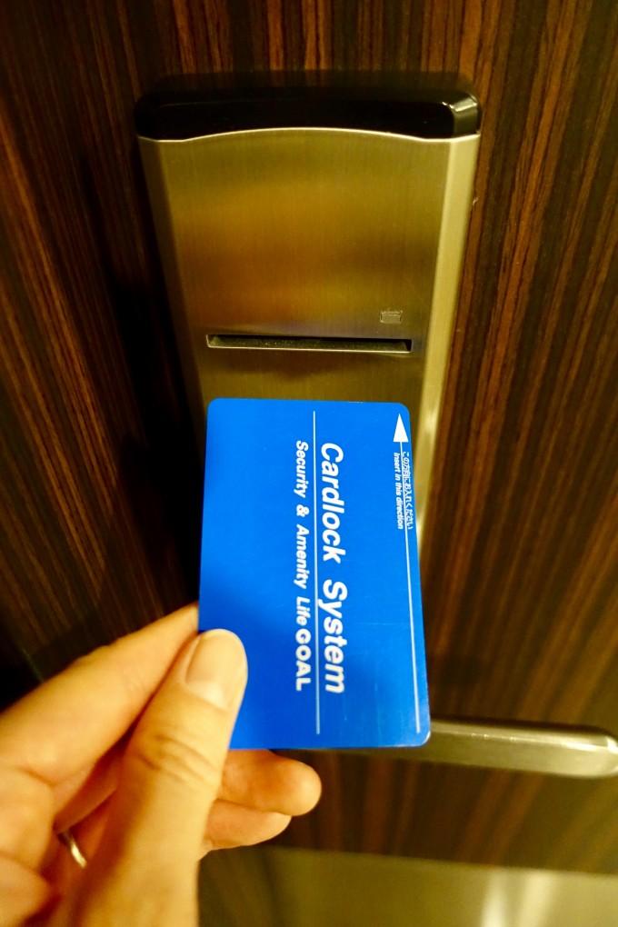 カンタス航空ラウンジシャワールームカードキー