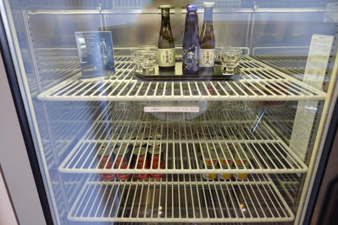 カンタス航空ラウンジ冷蔵庫