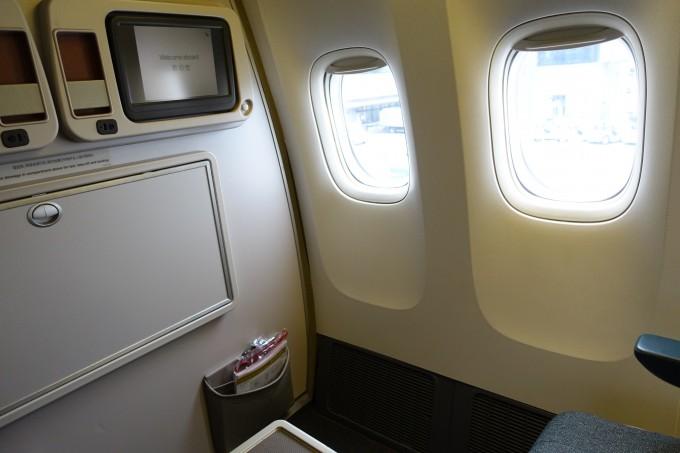 キャセイパシフィック航空ビジネスクラス最前列