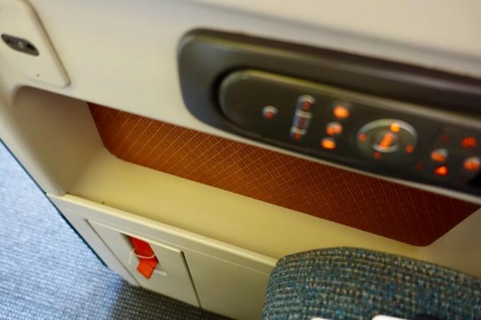 キャセイパシフィック航空ビジネスクラス シート