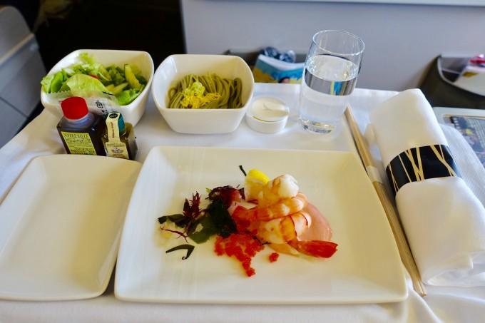 キャセイパシフィック航空ビジネスクラス 前菜