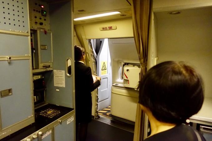 キャセイパシフィック航空ドア