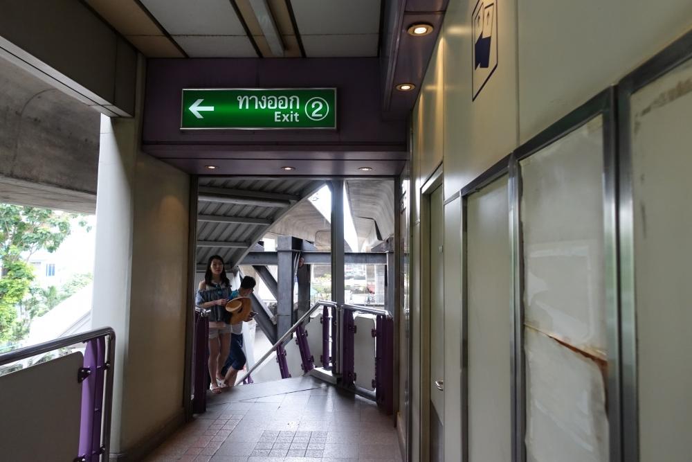 バンコク船着き場への階段