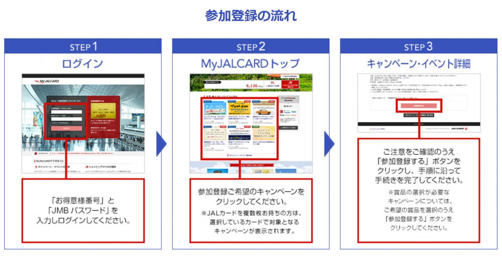 JALカードキャンペーン参加登録方法