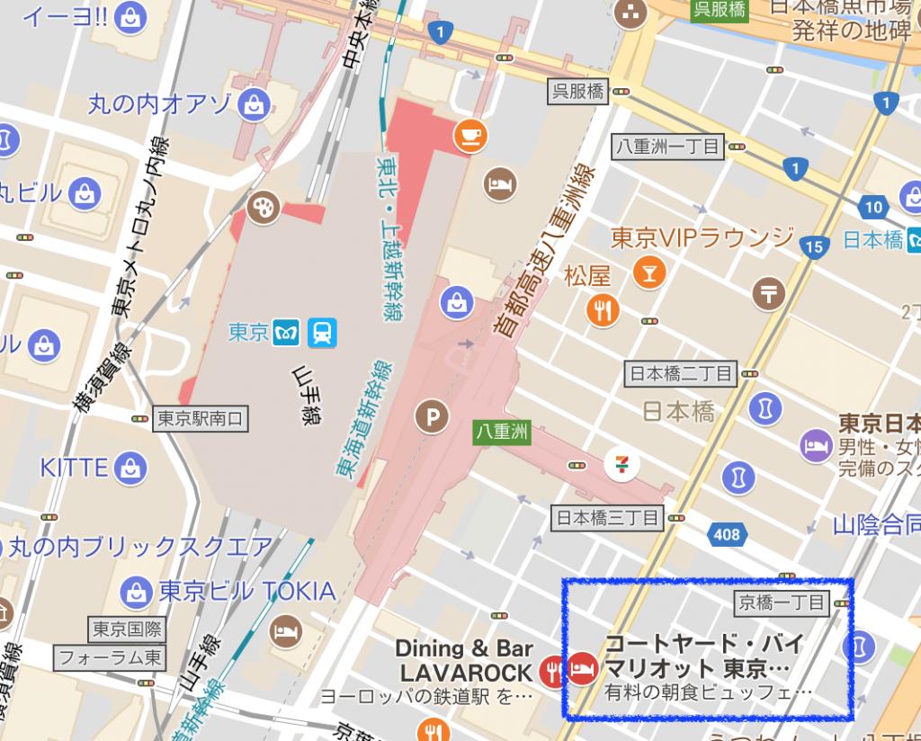 コートヤード・バイ・マリオット東京ステーション地図