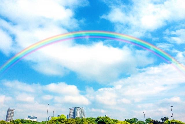 空いっぱいの虹