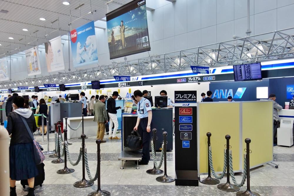 新千歳空港のANAプレミアムチェックインカウンター