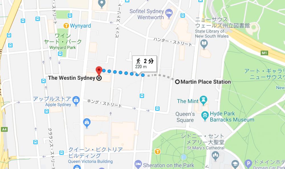 ザ・ウェスティンシドニーマップ
