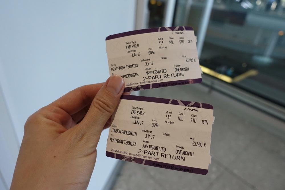 ヒースローエクスプレス切符