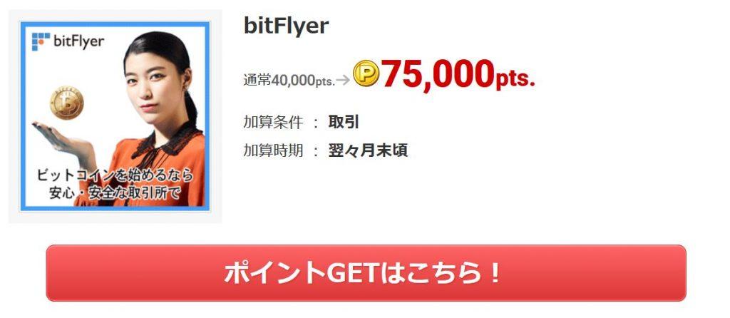 ECナビのビットフライヤー案件7500円