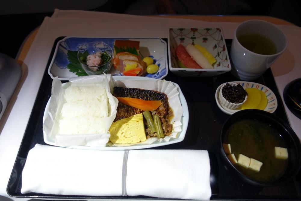 ANAビジネスクラス 機内食
