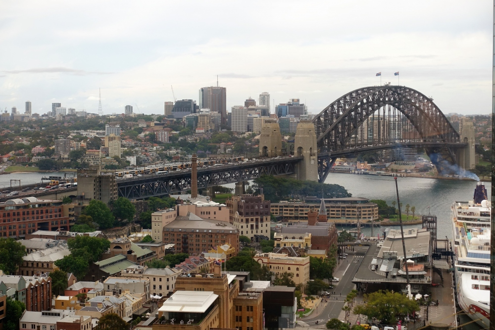 シドニーマリオット ハーバーブリッジビューの眺め