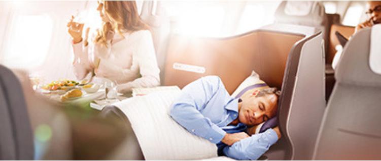 ルフトハンザ航空の長距離線ビジネスクラス