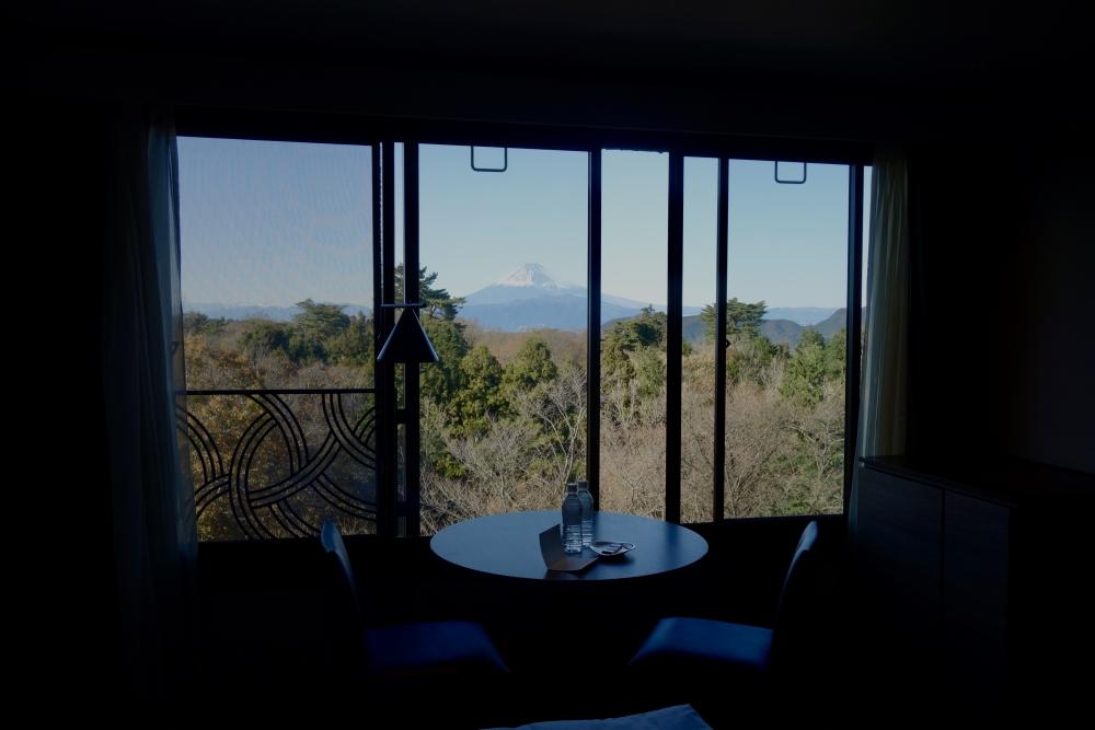 マリオット修善寺から眺めた富士山