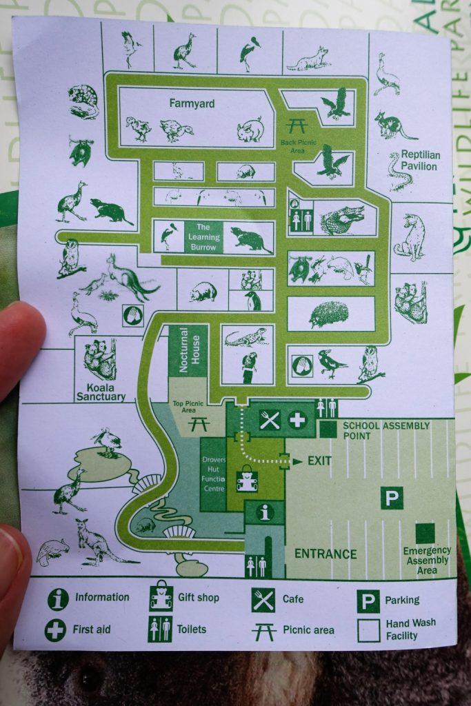 フェザーデール動物園 園内地図