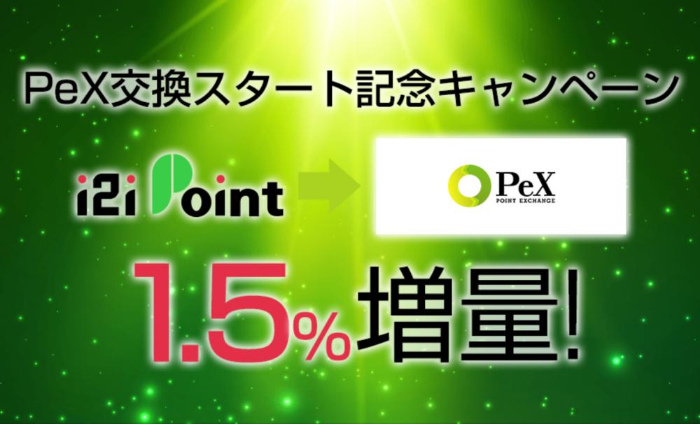 i2iポイントのPeX交換開始キャンペーン