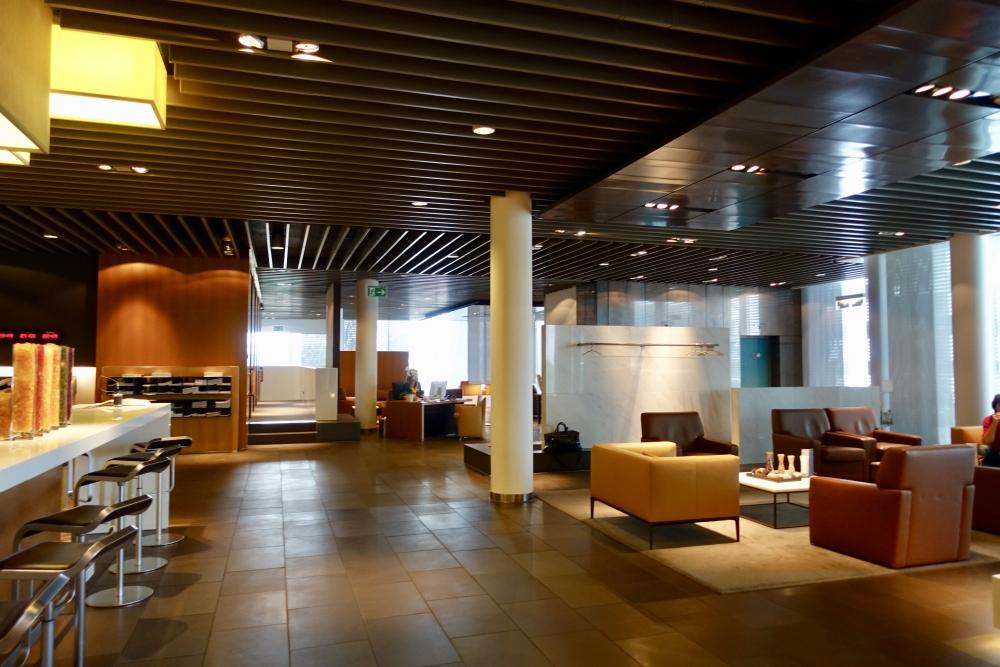 フランクフルト国際空港ルフトハンザファーストクラスターミナルのリラックススペース