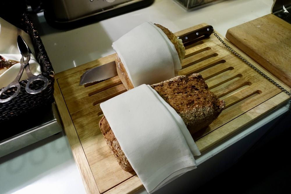 ルフトハンザ航空ファーストクラスターミナルで提供されるドイツパン