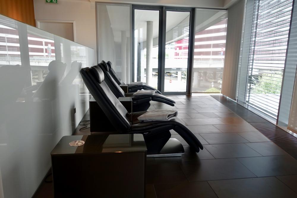 ルフトハンザ航空ファーストクラスターミナルのリラックスチェア