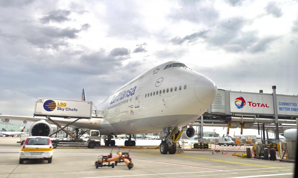 フランクフルト国際空港のルフトハンザ航空機