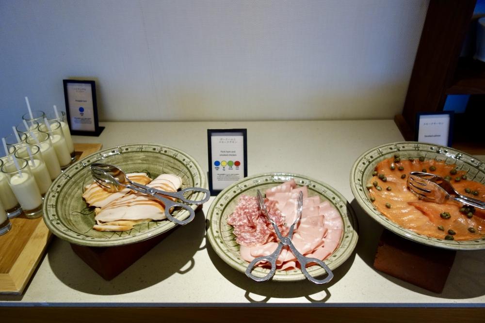 ヒルトン福岡シーホーク エグゼクティブラウンジ 朝食ハム