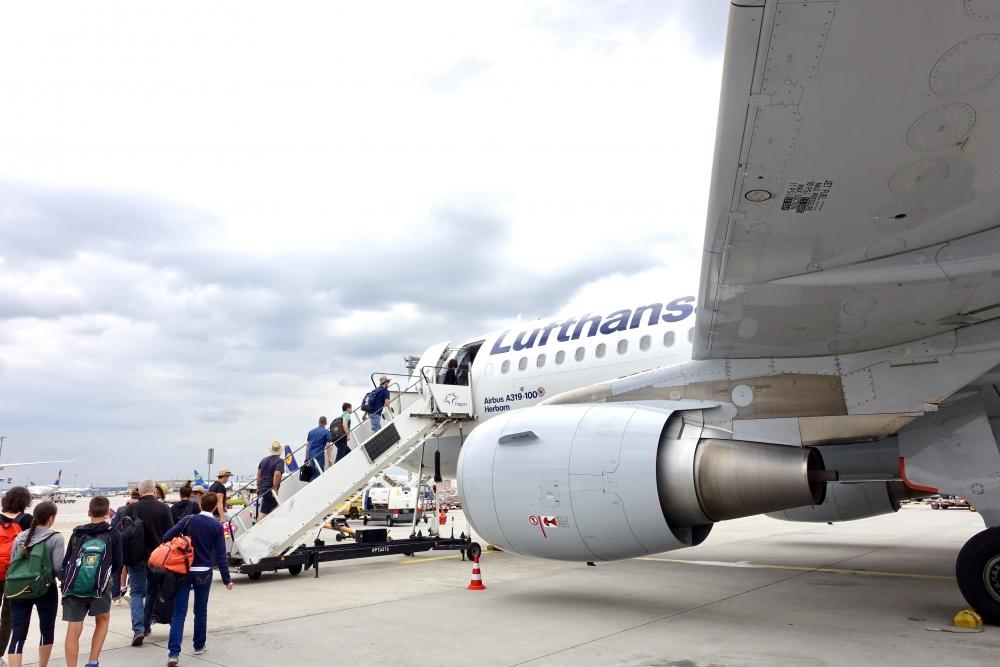 フランクフルト国際空港 ルフトハンザ機