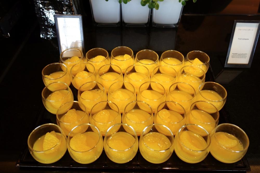 ヒルトン福岡シーホーク エグゼクティブラウンジ 本日のオススメはオレンジのゼリー