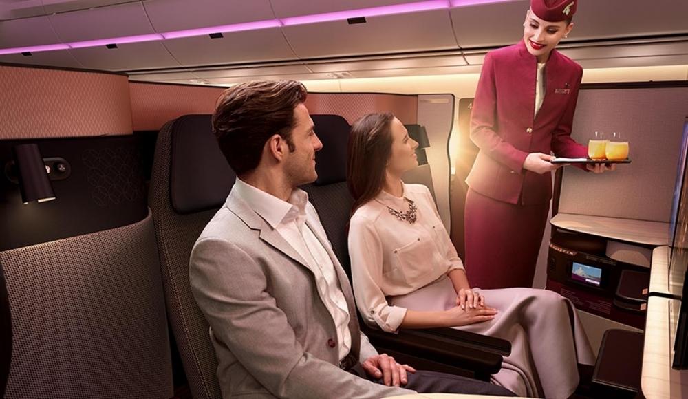 カタール航空のビジネスクラスQsuiteの座席