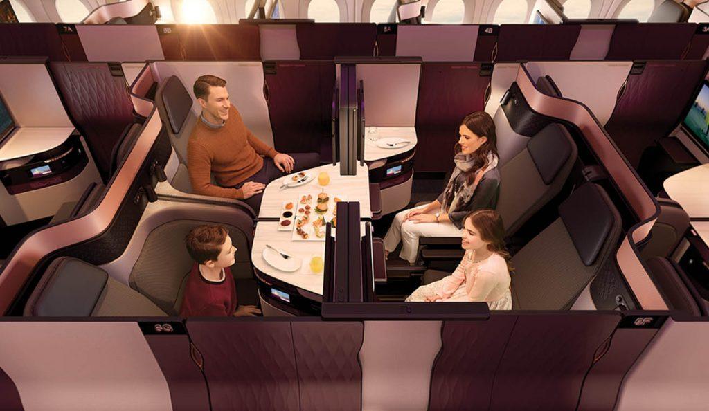 カタール航空のビジネスクラスQsuiteは家族旅行にも最適