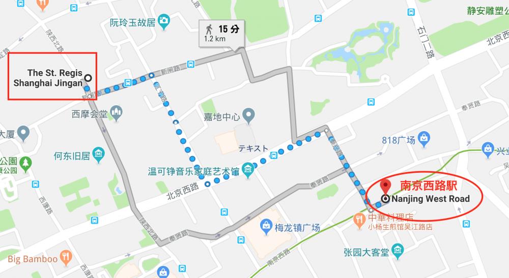 セントレジス上海の地図