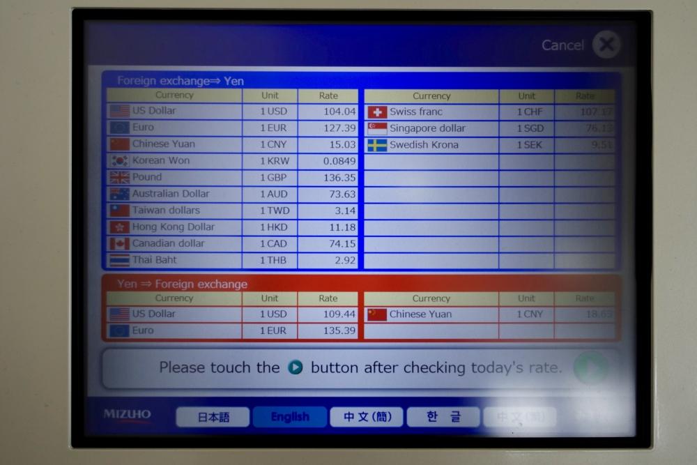 成田空港第1ターミナル 第5サテライト ANAスイートラウンジ 両替機