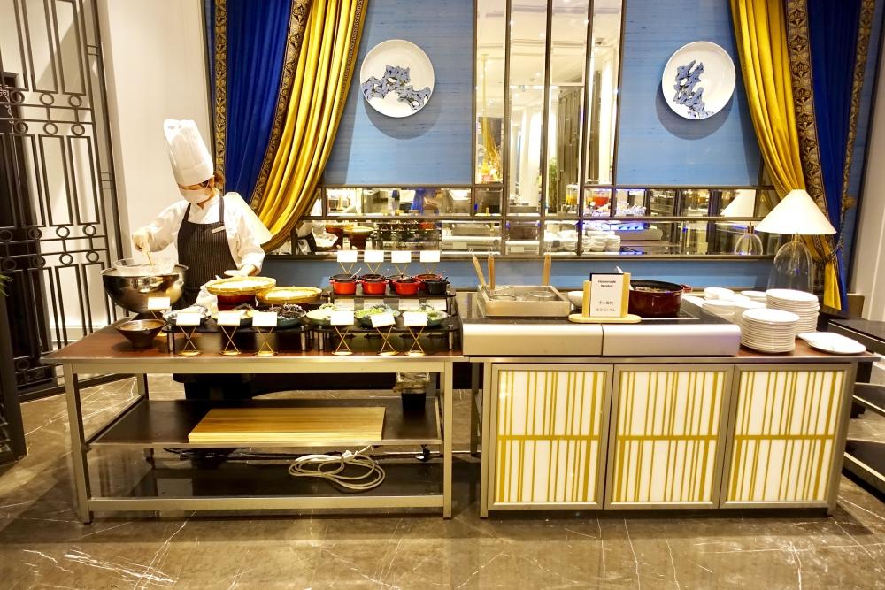 セントレジス上海静安の朝食会場