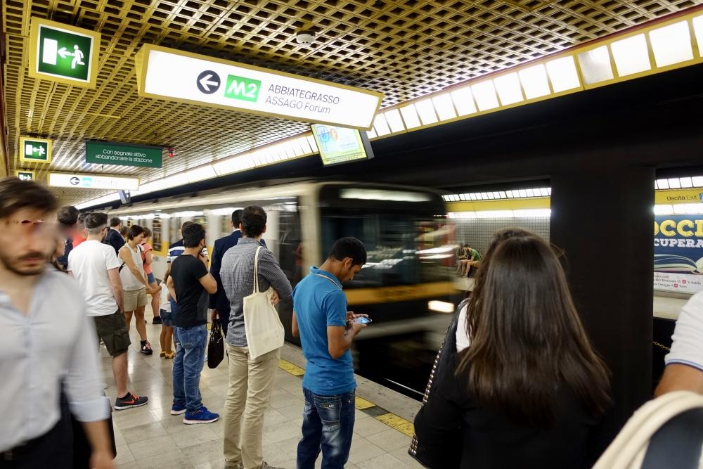 ミラノ中央駅 メトロホーム
