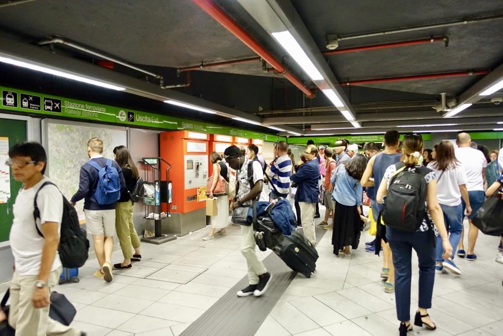 ミラノ中央駅 メトロチケット販売機