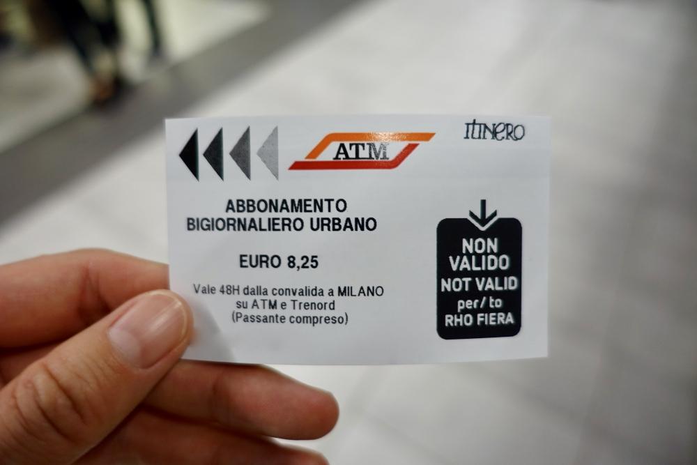 ミラノ 地下鉄・バス・トラム共通券