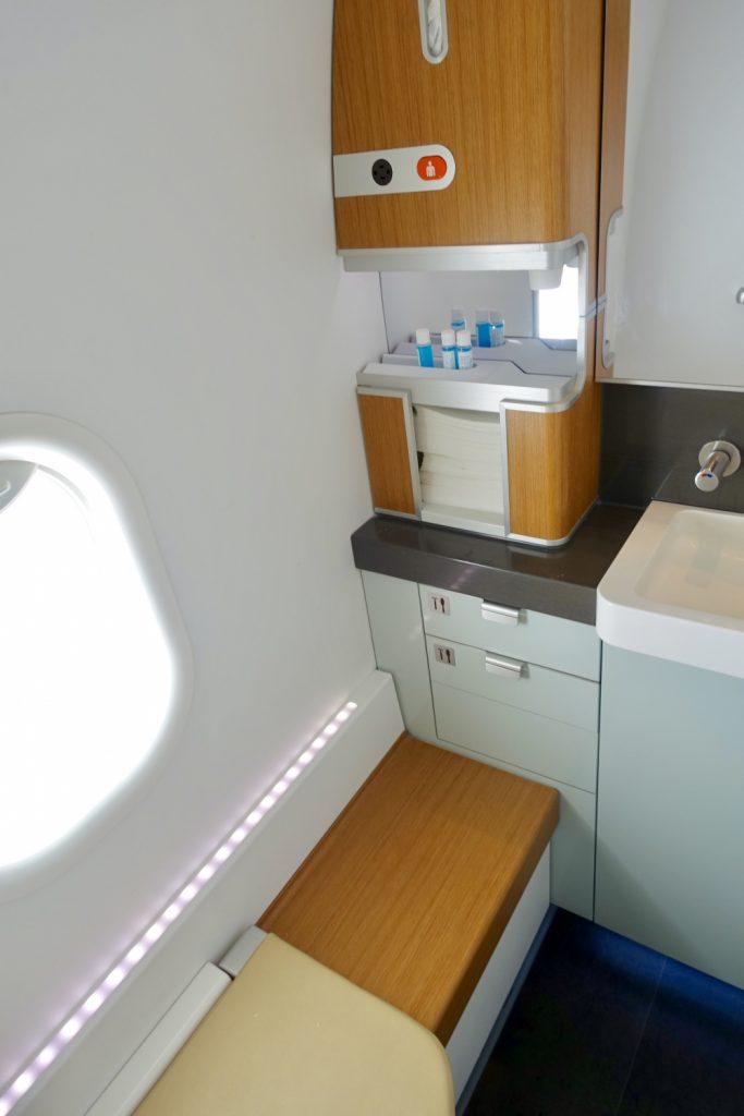 ルフトハンザドイツ航空 B747-800ファーストクラス トイレ