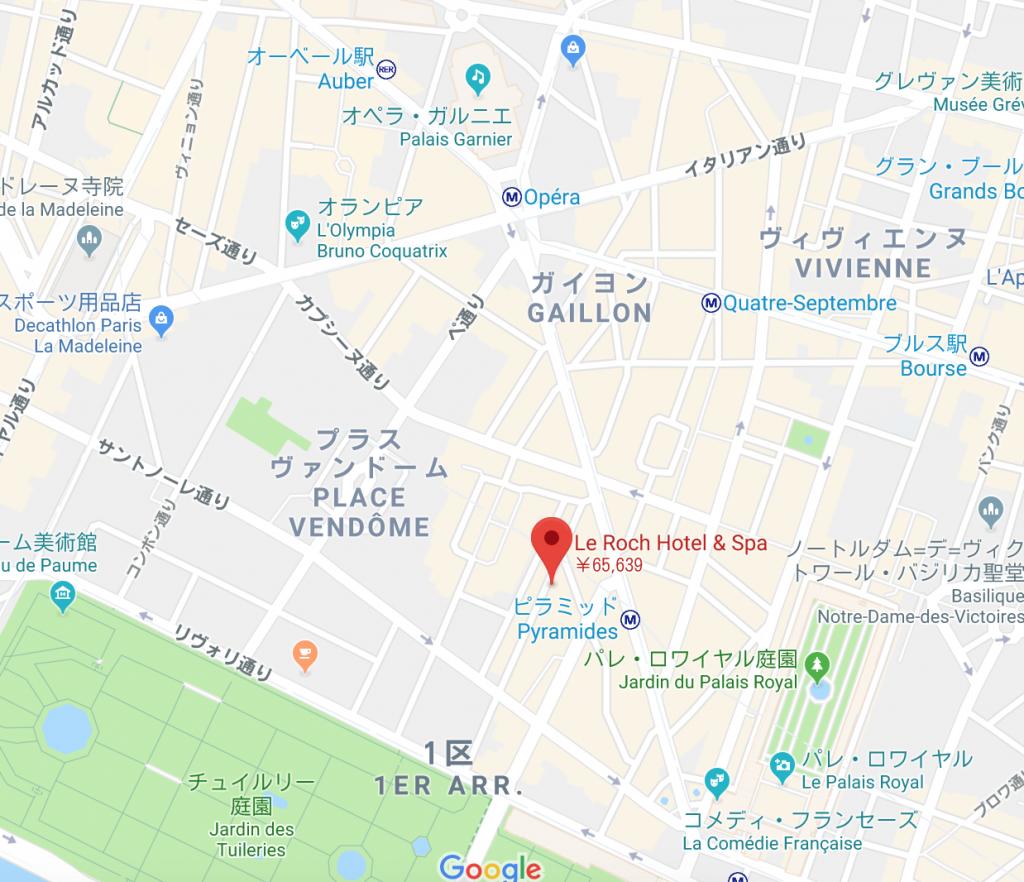 Le roch ホテル&スパ 地図