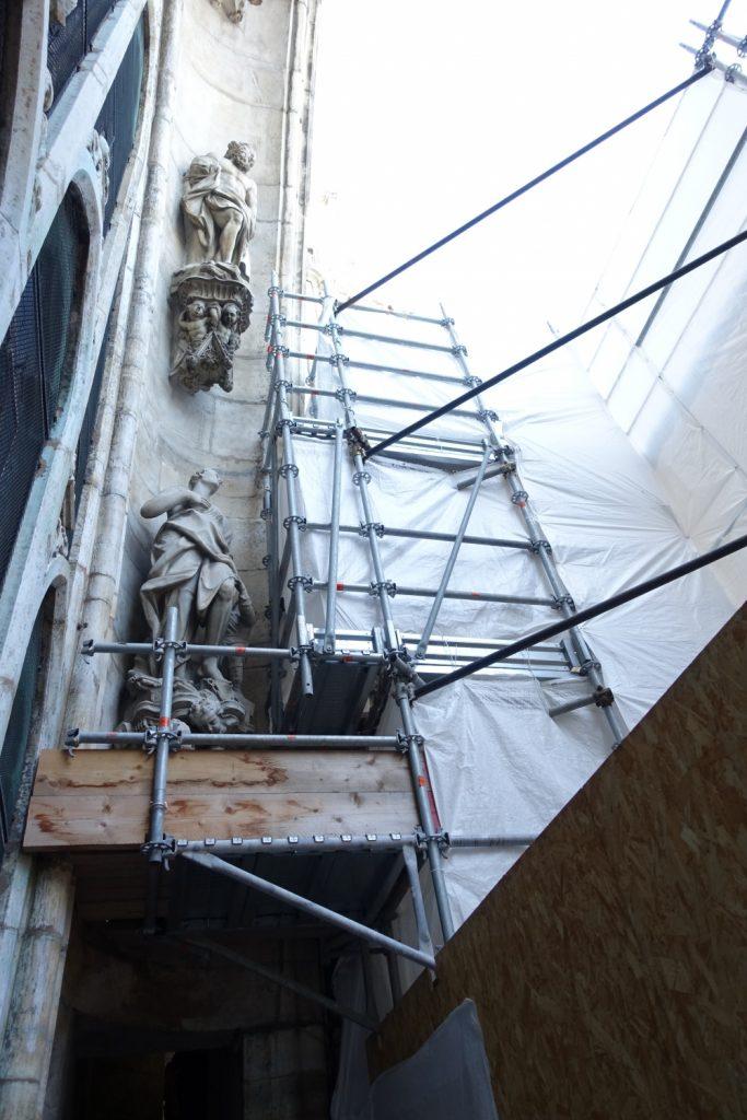 ミラノ ドゥオモ 工事中のテラス