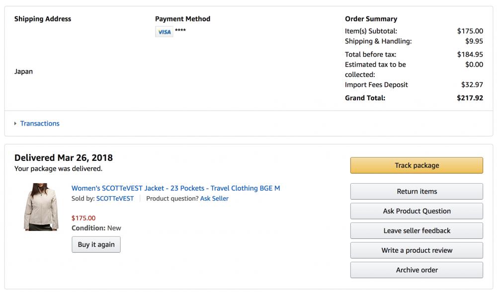 amazon.comでScottevestジャケットを購入