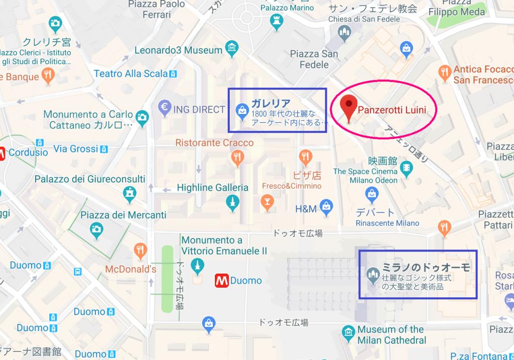 地図 パンツェロッティ ルイニ