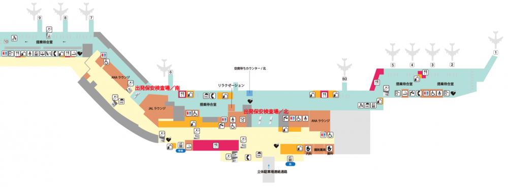 福岡空港 国内線ターミナル2階 フロアマップ