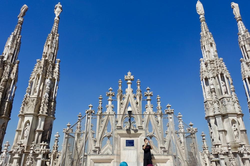 ミラノ ドゥオモ 後方の装飾